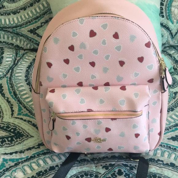 Coach Handbags - Coach medium Charlie heart ❤ backpack 6b179ce6a7